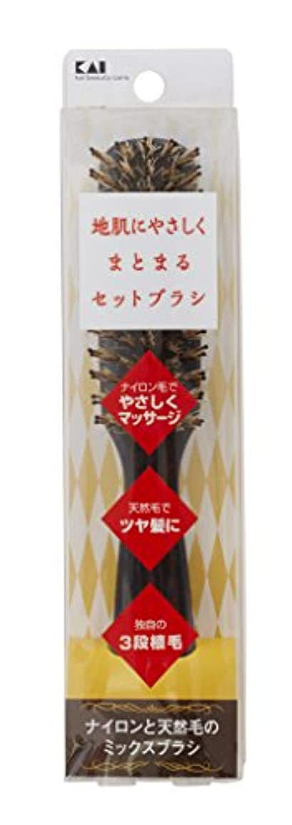 繊維デッドロックワンダー地肌にやさしいセットブラシSストレート KQ3079