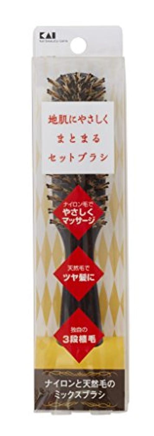 レンジ出血セールスマン地肌にやさしいセットブラシSストレート KQ3079