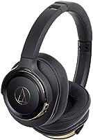 audio-technica ワイヤレスヘッドホン Bluetooth マイク付き 重低音 密閉型 ブラックゴールド ATH-WS660BT BGD