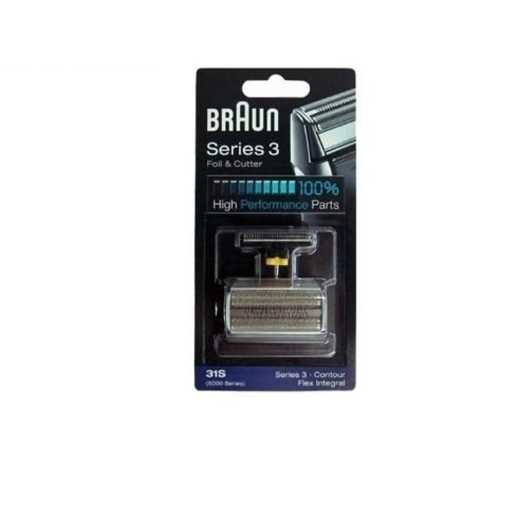 多年生バリケード鑑定Braun 31S コンビ箔と(旧5000/6000)をカッターの交換パック [並行輸入品]