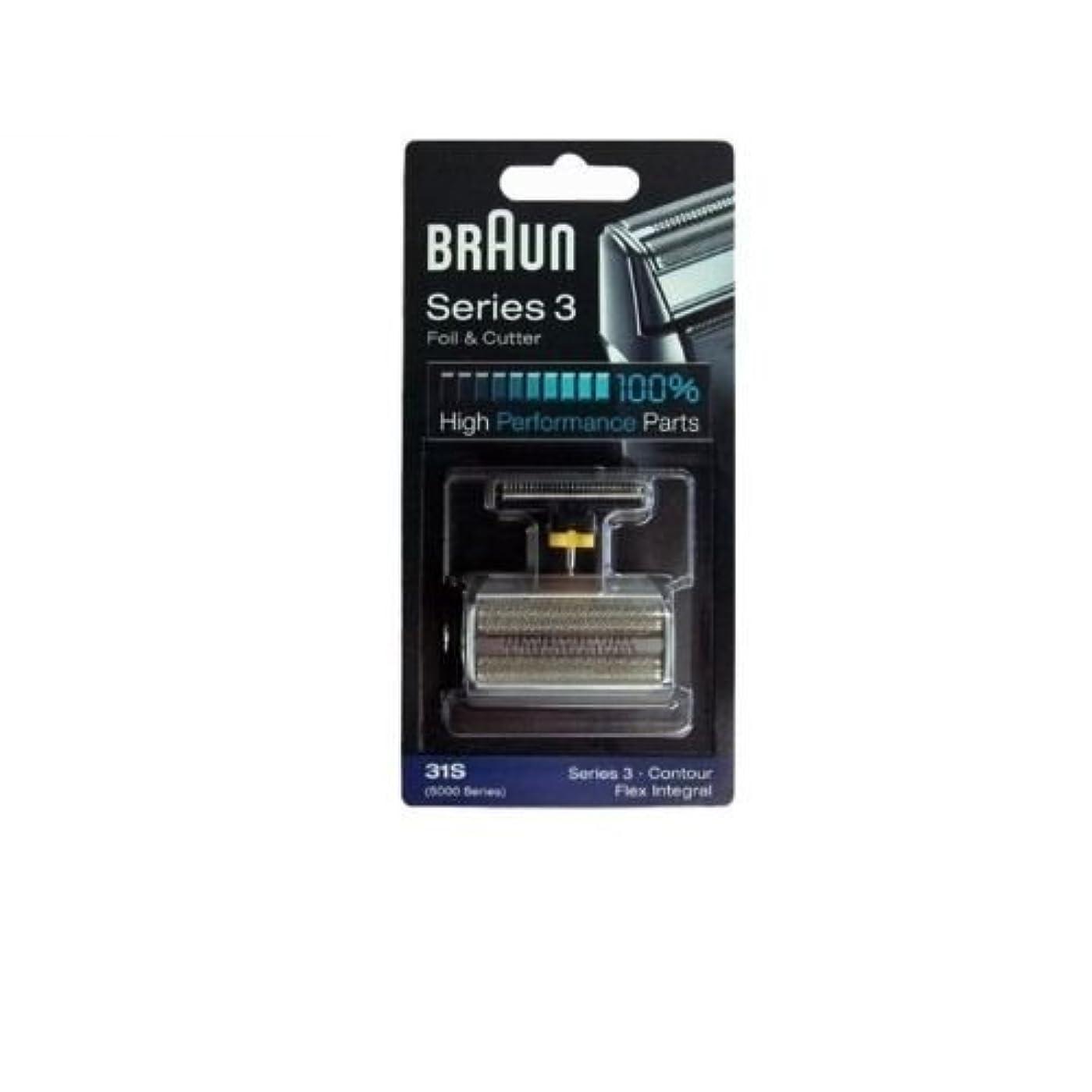 ビルオーストラリア人類似性Braun 31S コンビ箔と(旧5000/6000)をカッターの交換パック [並行輸入品]