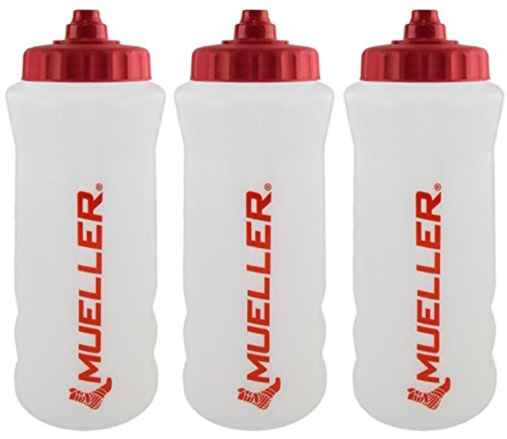 舌歯伝えるMueller QuartボトルW / Sureshot Squeeze (新しいデザイン、ナチュラルカラーW /レッドLetters