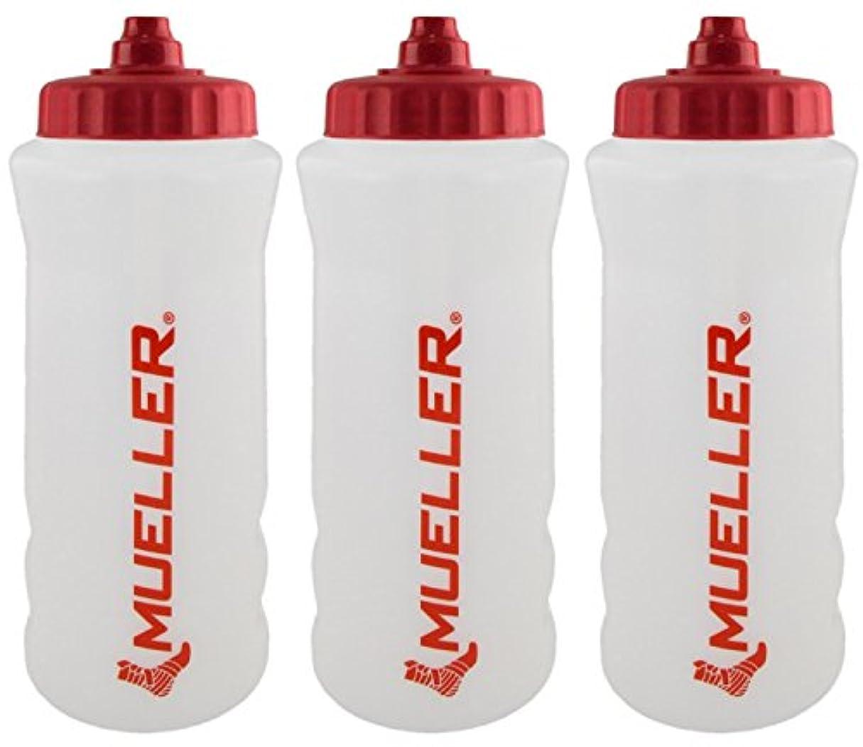 死市場スプーンMueller QuartボトルW / Sureshot Squeeze (新しいデザイン、ナチュラルカラーW /レッドLetters