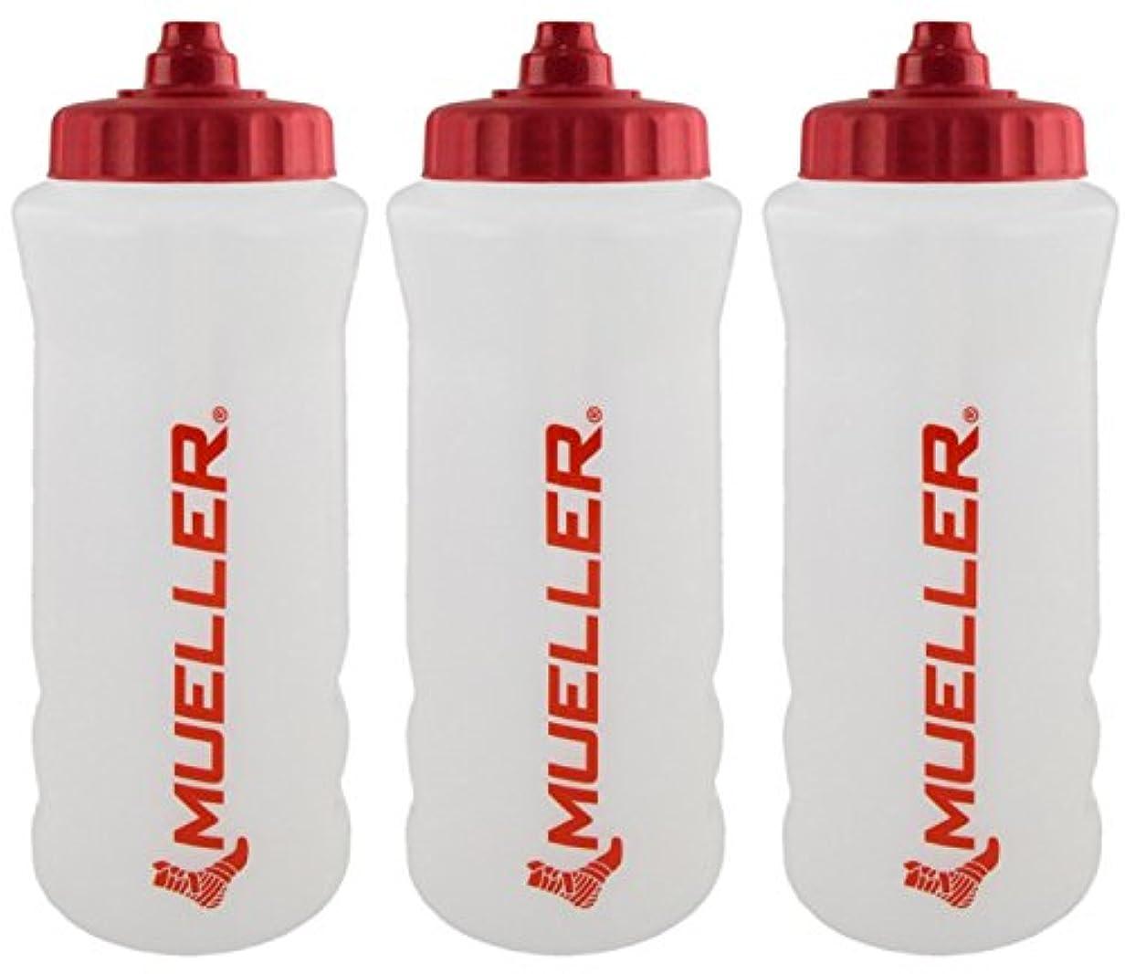 ノートロンドン愛するMueller QuartボトルW / Sureshot Squeeze (新しいデザイン、ナチュラルカラーW /レッドLetters