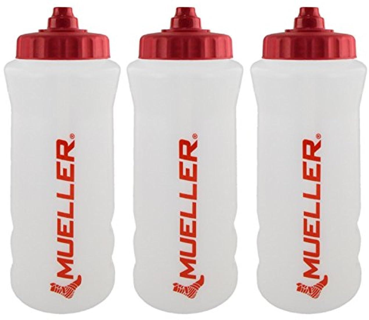 バイアス陪審歩き回るMueller QuartボトルW / Sureshot Squeeze (新しいデザイン、ナチュラルカラーW /レッドLetters