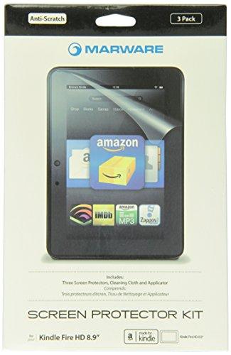 Marware (Kindle Fire HD 8.9専用液晶保護フィルム) Anti-Scratch Screen Protector アンチスクラッチ スクリーンプロテクター 3パック KISP1X (Kindle Fire, Fire HDには対応しておりません)