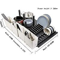 Cutlery tray 台所用引き出し、様々なサイズ/フォームのためのストレージラック高品質ABSのカトラリートレイ (サイズ さいず : I)