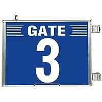 【305-83】突出し式ゲート標識 GATE3セット