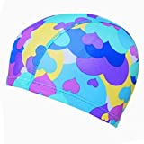 Kylin Express Girls Comfortable Swim Cap Swimming Hat Cloth Hat Bathing Cap, Hearts