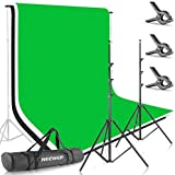 Neewer Photo Studio 8.5 X 10 feet/2.6 X 3 Meters Backdrop Stand Background Support System with 6 X 9 feet/1.8 X 2.8 Meters Fa