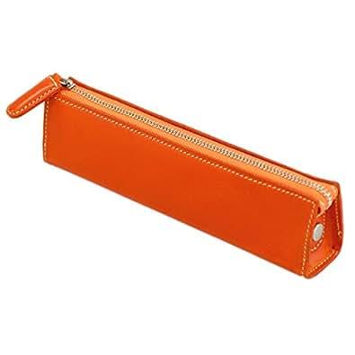 (スリップオン) SLIP-ON SOINL3601 BT イタリアンレザー ファスナー ペンケース 筆入れ [牛革] (オレンジ)