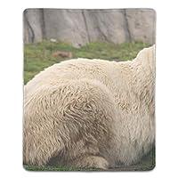 マウスパッド 滑り止めゴム底 耐洗い表面 耐久 アニマルホワイトベア 180X220X3mm
