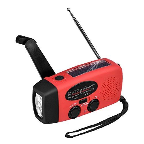 懐中電灯 AngLink LED懐中電灯 防水 手回し充電可能ラジオライト 非常用ライト 災害用ラジオ 携帯充電器 USB充電対応 ソーラーランタン 緊急対策