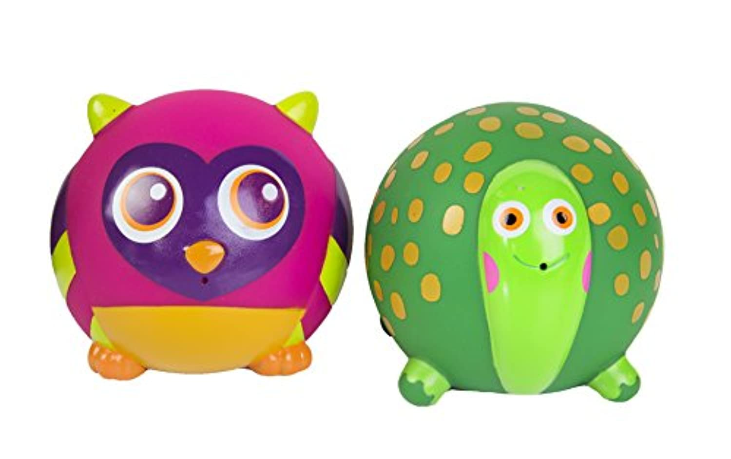 Oops Bath Friend Squirters with Turtle and Owl - Encourages Imaginative and Mental Development - Safe and Easy Clean - 11-Piece - Ages 4 Months and Up by Oops