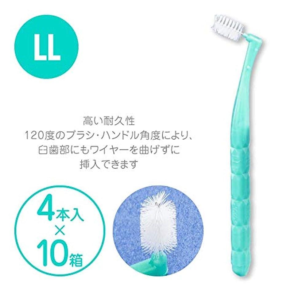レンズエレメンタル推測するプロスペック 歯間ブラシ アングルアクア 4本入 × 10パックセット LL アクアグリーン