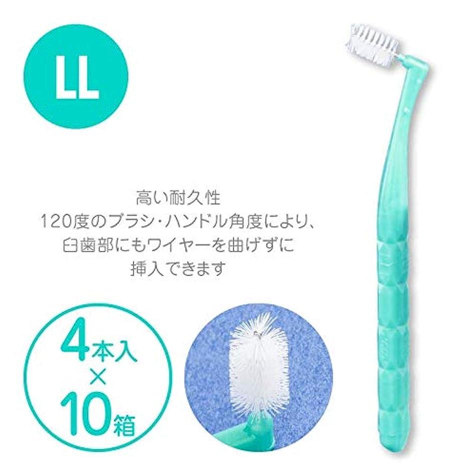 設計図マネージャー盆プロスペック 歯間ブラシ アングルアクア 4本入 × 10パックセット LL アクアグリーン