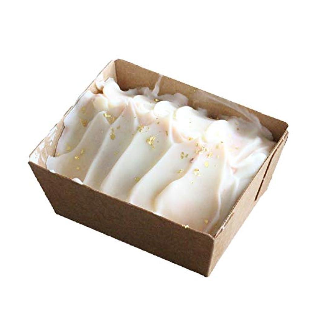 振動させる吹雪救いピンククレイ石けん パウンドケーキタイプ