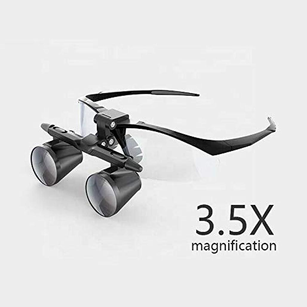 マーケティングもう一度感覚3.5倍拡大双眼歯科ルーペ外科手術拡大鏡付きヘッドライトledライト医療手術ルーペランプ