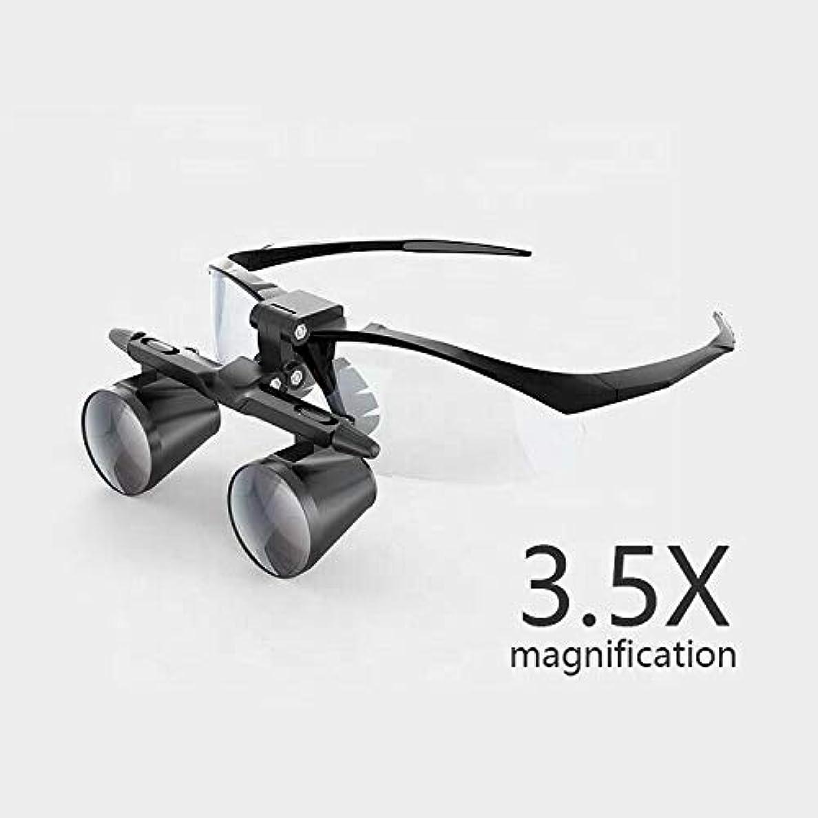マニアック過半数ビルダー3.5倍拡大双眼歯科ルーペ外科手術拡大鏡付きヘッドライトledライト医療手術ルーペランプ