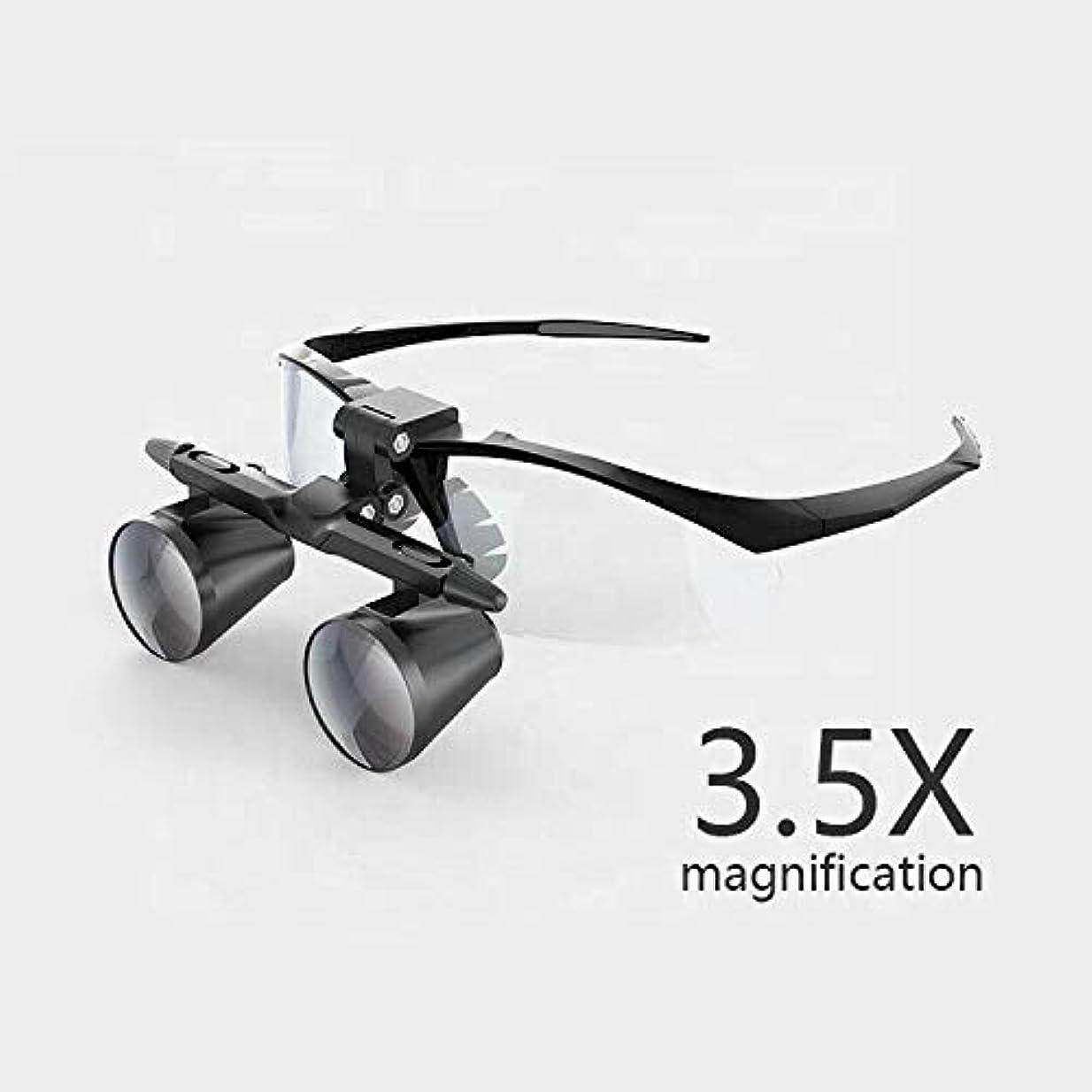 追放する解釈するモーション3.5倍拡大双眼歯科ルーペ外科手術拡大鏡付きヘッドライトledライト医療手術ルーペランプ