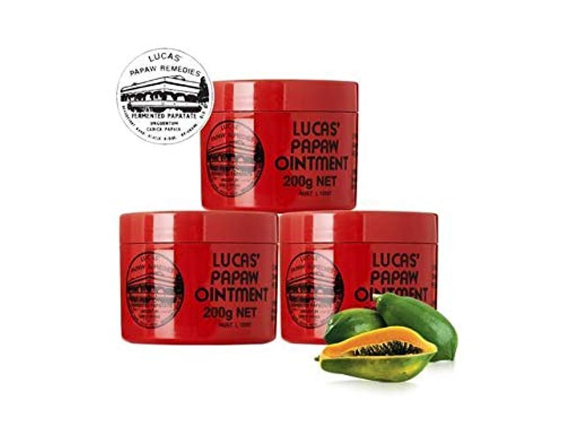家族湿原担保[Lucas' Papaw Ointment] ルーカスポーポークリーム 200gジャーお得3個セット [海外直送品]