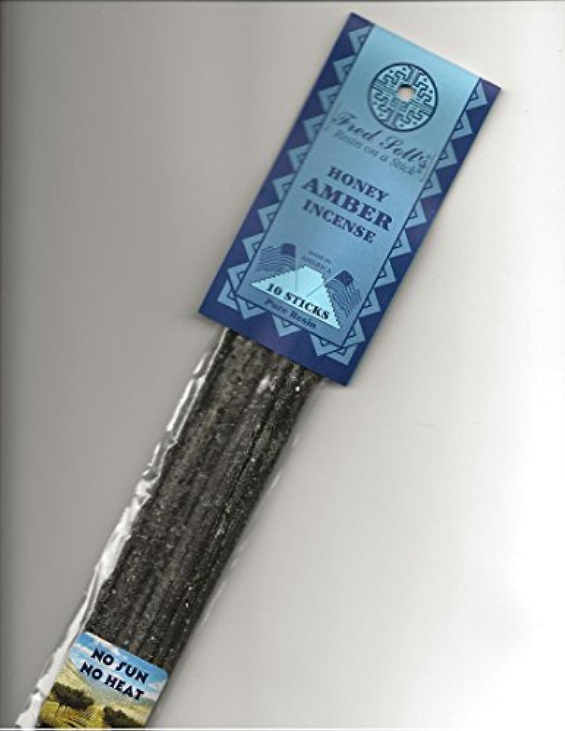詳細な短命オールFRED SOLL'S 樹脂製スティック式ハニーアンバーのお香
