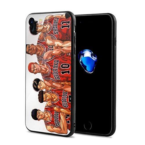 Gogoandi iPhon 7/8 Case 専用ケース SLAM DUNK スラムダンク ?木花道 保護カバー 指紋防止 手触り抜群