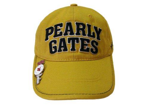 PEARLY GATES(パーリーゲイツ) マーカー付ゴルフキャップ PG30 キャメル メンズキャップ ゴルフ Golf CAP