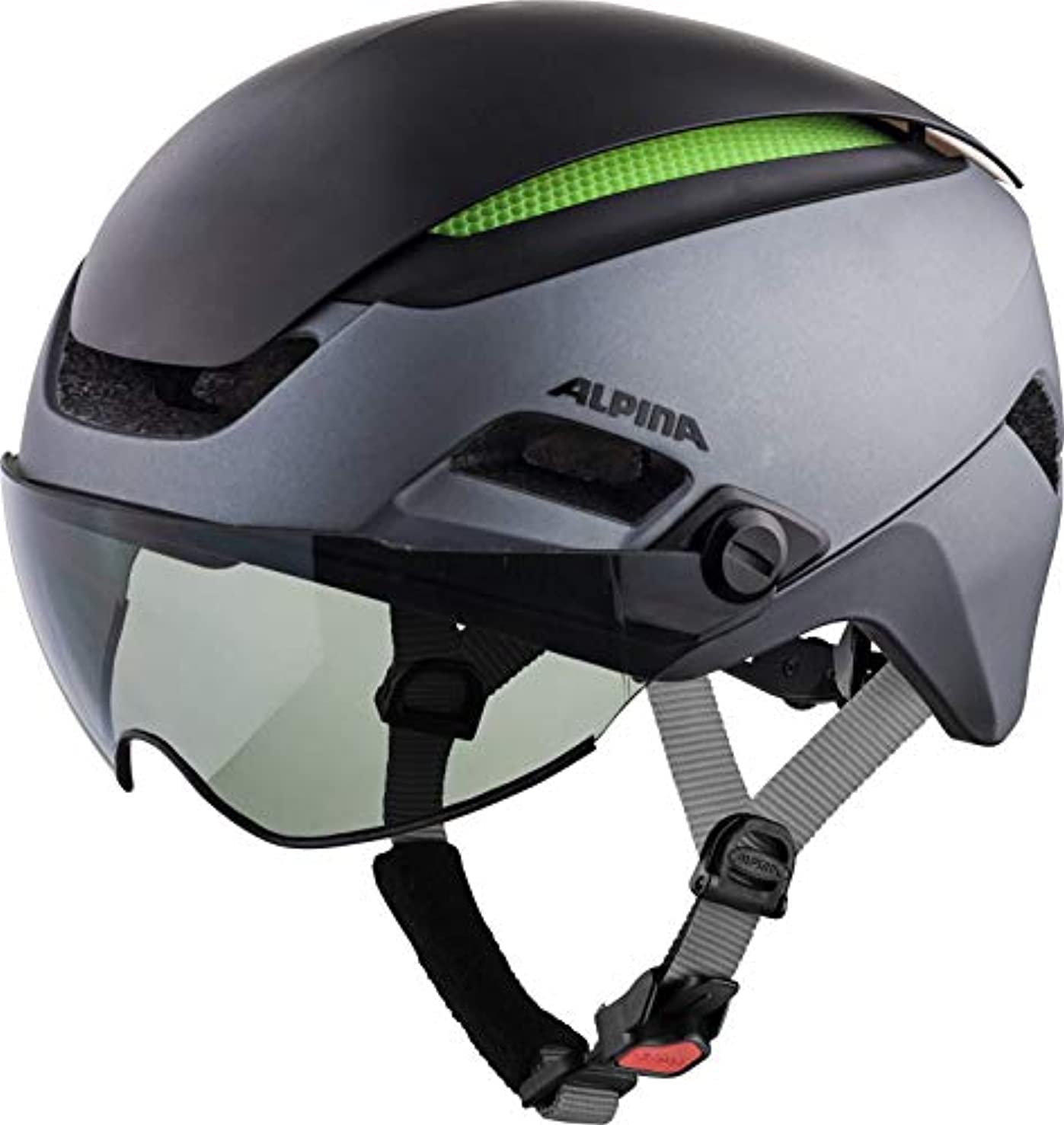 カウンターパート創傷スツールALPINA(アルピナ) ヘルメット ALTONA VM 調光レンズバイザー付 チャコール/アンスラサイト 57-62