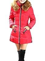 【選べる3色】 レディース ダウンコート ロング 中綿 フェイク ファー フード 付き あったかい ダウンジャケット ミリタリー アーミー アウター 防寒 カジュアル スリム ジップアップ コート シンプル 軽量