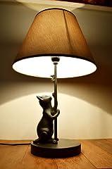 間接照明 スタンドライト ♪ブロンズ調ネコのスタンドランプ(ネコとネズミ)♪ アジアン照明 バリ おしゃれ 置物 オブジェ エスニック