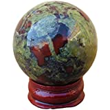 40mm 1pc Natural Dragon Blood quartz Sphere Stone Ball for decorative Collection
