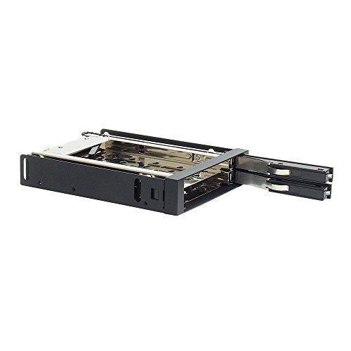 3.5インチベイ内蔵専用HDDケース 2.5インチSSD HDDを2台簡単増設 SATA接続 Windows8.1対応 ガチャポンパッダイレクト ブラック OWL-IE322B