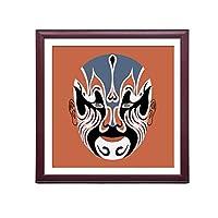 XUEPING 壁アートの絵画ソファの背景の壁のリビングルームの研究ベッドルームのレストランのバーレストランカフェの壁の装飾北京オペラ12米紙のペンダント (色 : A, サイズ さいず : W40cm×40cm)
