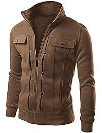 [spasibo(スパシーバ)] 5色の中から選べる メンズ 軽量 ジップアップ スマートスウェットジャケット