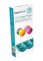 EdgeHome Cake Pops Make & Bake Silicon Pastry Mold & Sticks (Makes 12 Pops) by Edge home