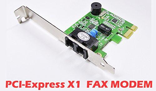 『56k FAX MODEM ロープロ対応 LSIチップ 内蔵 WINDOWS10 対応 簡易日本語インストールマニュアル付 PCI-Express X1バス用 AKBP-56K-PCIER2 Rev2』のトップ画像
