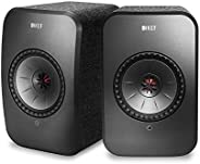 KEF Wireless Speakers with Airplay 2, WiFi and Bluetooth (SP3994AX) (LSX Wireless Speakers (Black, Pair))