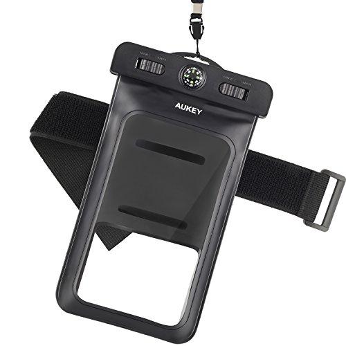 AUKEY 防水ケース アームバンド スマホ用 羅針盤付き iPhone 7/7S Plus/6S/ Samsung Galaxy/Nexus/Sonyなど対応 PC-T6