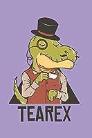 Tea Rex: Funny T Rex Dinosaur Drinking Tea Cartoon Gift Design for Tea and Pun Lovers