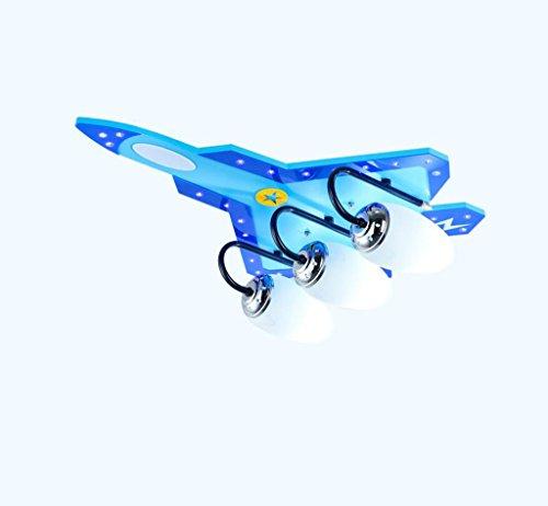 ASL 航空機天井ランプ、子供部屋天井ランプボーイルームライトアイプロテクションLED照明幼稚園教室ライトE14 3-4ヘッド HAPPY ( サイズ さいず : A )