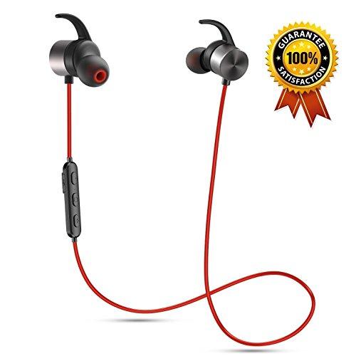 [アップグレード版] Senbowe Bluetooth イヤホン ブルートゥースイヤホン マグネット搭載 内蔵式マイク ハンズフリー通話 CVC6.0ノイズキャンセリング スポーツ/ランニング/ジム/汗止め 1年保証付き