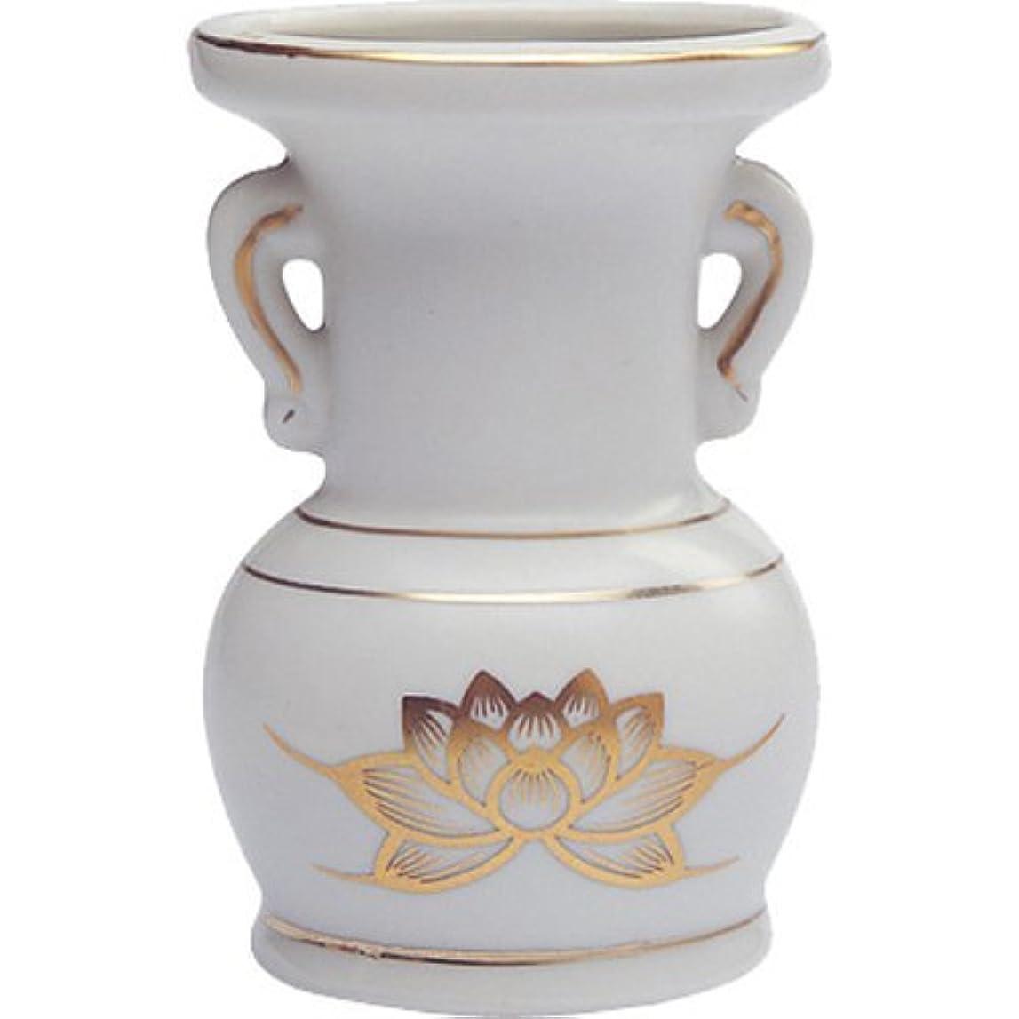 錆び参加する議論する花立て 陶器(白磁)