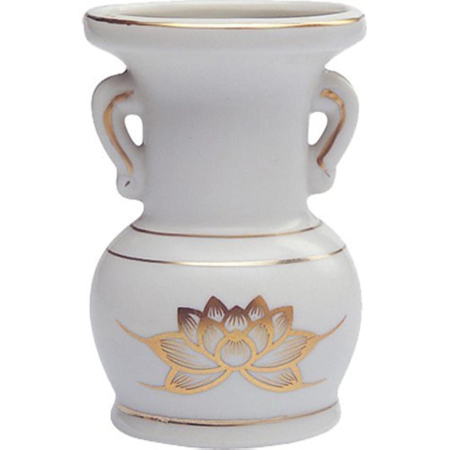 偏見平和隠す花立て 陶器(白磁)