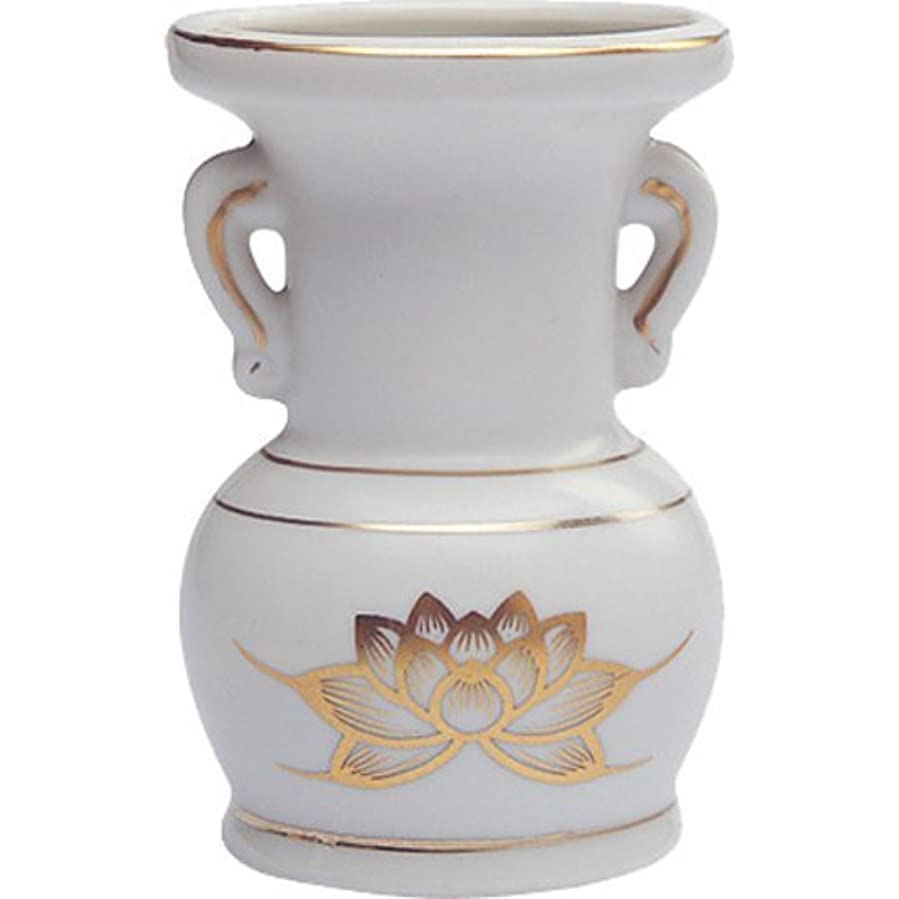 ロードブロッキングネーピアパッチ花立て 陶器(白磁)