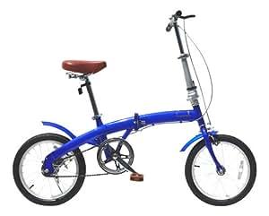 21Technology 折りたたみ自転車16インチ(ブルー)