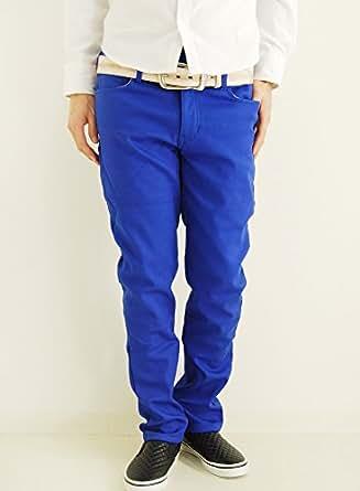 (アーケード) ARCADE 8color 暖かい 裏起毛 裏地ボア 防風 裏地フリース ボンディングパンツ ストレッチ スキニーパンツ メンズ S ブルー
