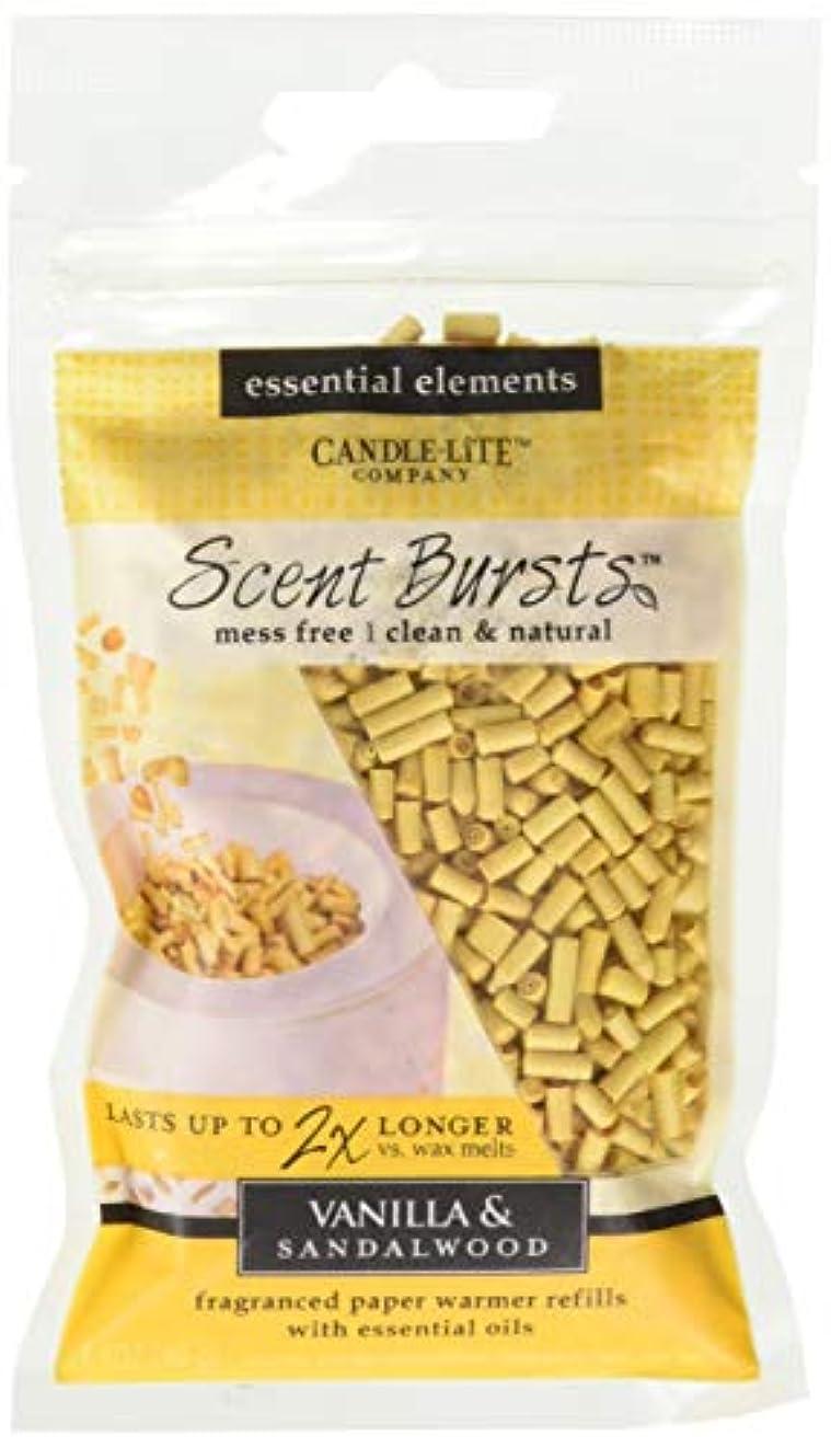 の甘い細部candle-lite Essential要素クリーン&ナチュラル香りバースト用紙Warmer Refillsより2 x長持ちワックス Vanilla & Sandalwood 4 Pack ベージュ