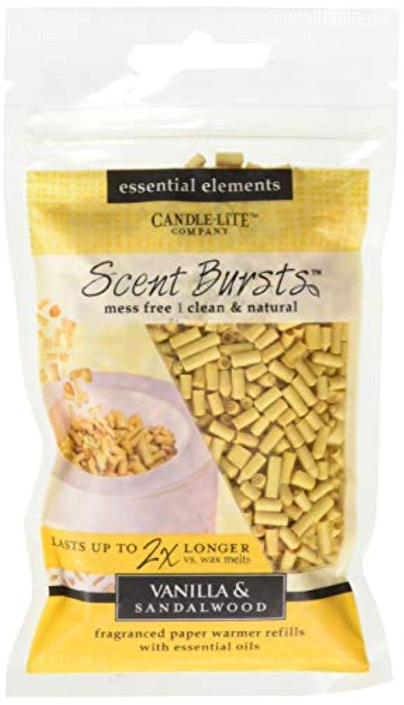 アシスタント裁量決定candle-lite Essential要素クリーン&ナチュラル香りバースト用紙Warmer Refillsより2 x長持ちワックス Vanilla & Sandalwood 4 Pack ベージュ