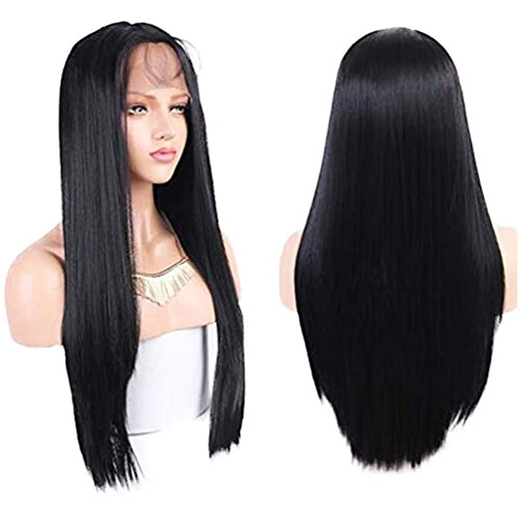 最高七時半喜劇女性レースフロントかつら未処理バージン毛ブラジルレミー人毛ストレート髪レースかつらベビー毛で150%密度